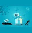 financial issues due covid-19 pandemic vector image vector image