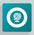 flat globe icon vector image
