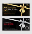 gift voucher certificate or discount card vector image vector image