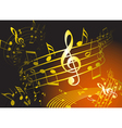golden music theme vector image vector image