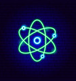 green science neon sign vector image vector image