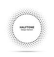 halftone circle frame oval dots logo emblem vector image vector image