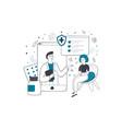 health insurance online medicine consultation vector image vector image