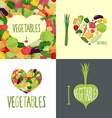 I love vegetables Set of logos for food lovers vector image vector image