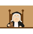 Judge passes verdict in the courtroom vector image