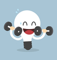 Light Bulb Training With Dumbbells Idea concept vector image vector image