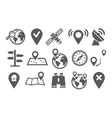Location Icons vector image