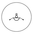 man in a boat icon black color in circle vector image vector image
