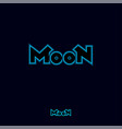 moon logo abstract sign pink neon light vector image