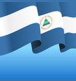 nicaraguan flag wavy abstract background vector image vector image