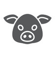 pig glyph icon animal and zoo pork vector image vector image