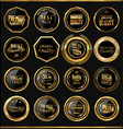 premium quality golden badges collection 2 vector image vector image