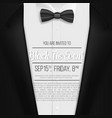 realistic black suit black tie event invitation vector image vector image