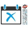 Reject Calendar Day Icon With Bonus vector image vector image