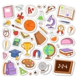 School icons stickers vector image