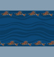 seamless horizontal border pattern with fishes vector image vector image