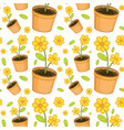 seamless pattern tile cartoon with yellow flowers vector image vector image