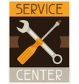 Service center Retro poster in flat design style vector image vector image