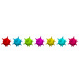 set colorful symbols covid-19 infection vector image
