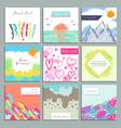 set creative square invitation congratulatory vector image