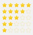 set five stars vector image
