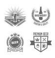 set of beer and brewery isolated emblems vector image
