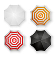 Set of Colorful Umbrellas Isolated vector image vector image