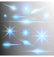 Set of glow light effect EPS 10 vector image