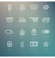 Shopping icons set on Retina background vector image
