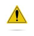 sign of attention and exclamation in yellow vector image