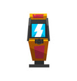 slot machine with joystick electronic virtual vector image vector image