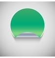 special green sticker vector image vector image