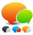 speech bubble graphics two overlapping speech vector image