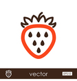 Strawberry outline icon Fruit vector image vector image