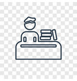 student and books concept linear icon isolated on vector image