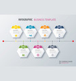 timeline infographics options template vector image