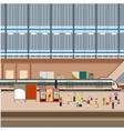 train big station vector image