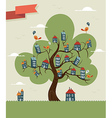 Tree cute city vector image vector image
