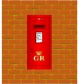 Wall Mounted Post Box vector image vector image
