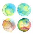 watercolor circle set on white background vector image vector image