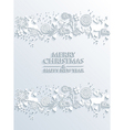 White Merry Christmas and Happy New Year greeting vector image vector image