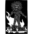 Wicker Man vector image vector image