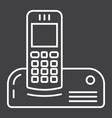 wireless telephone line icon household appliance vector image vector image