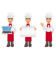 young professional chef in uniform vector image vector image