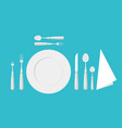 table etiquette cutlery forks spoons and knives vector image