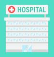 hospital building flat icon medicine vector image