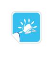sun icon blue vector image