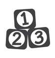123 blocks icon vector image