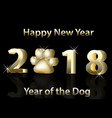 2018 happy new year vector image vector image