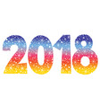 2018 new year two thousand eighteen decorative num vector image